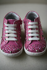 MISSOURI BABY PINK LEATHER CRYSTAL SNEAKERS EU 19 UK 3 US 4