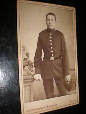 Cdv old photograph soldier by Schwendler at Dresden Germany c1880s