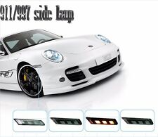 LED Indicators Lights Side Marker Lamps For PORSCHE 911/997 2005-2008 White LED