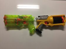 2 NERF N-Strike Maverick REV-6 Guns Sonic Green Yellow Soft Dart Blaster Pistols