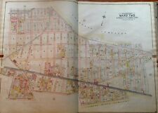 1908 B.HYDE GLENDALE MIDDLE VILLAGE LUTHERAN CEMETERY QUEENS NY PLAT ATLAS MAP