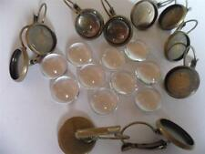 12mm Earring Making Kit 10 Antique Bronze leverbacks & Cabochons FREE DELIVERY