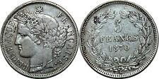 5  FRANCS CERES SANS LEGENDE 1870 K  F 322.4