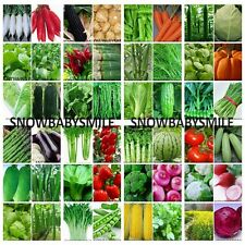 45 Variety 9,400+ Vegetable Seeds Herbs Organic NON GMO Garden Heirloom Lot New