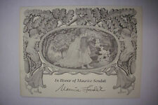 1988 SIGNED MAURICE SENDAK 60th Birthday Invitation and Publication of DEAR MILI
