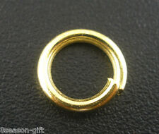 FREE P&P 200 PCs Gold Plated Open Jump Rings 8x1.2mm