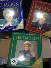ZEKI MUREN Zeki Müren ARCHIVE 1 - 2 - 3 Total:15 CD TURK SANAT MUZIGI TURQUIE