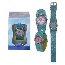 Watch Disney Frozen Elsa Analog Wrist Watch Band Girls Children Gift