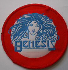 GENESIS Original Vtg 70`s/80`s Woven Patch/écusson/aufnäher/parche Red Border