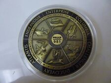NASA Space Program Medallion Flown Metal Shuttle Visible Embedments Proof / 981
