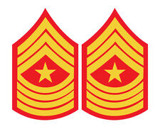 2 x Marines Stripes Sergeant Major Military Rank Red Cool car, van decal sticker