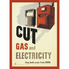 Cut Gas and Electricity steel  fridge magnet   (hb)  REDUCED!!