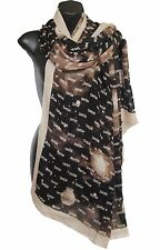 MARC BY MARC JACOBS Logo Scarf Wrap Brown Beige