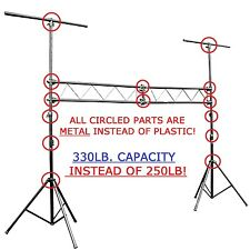 CEDARSLINK LK-M10 10' METAL PARTS DJ PORTABLE LIGHT LIGHTING T BAR STAND TRUSS
