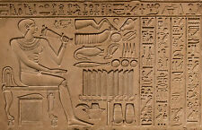 Framed Print - Egyptian Hieroglyphic from Great Giza Pyramid (Picture Poster Art