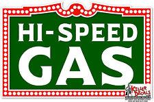"""12"""" HI-SPEED GASOLINE GAS PUMP TANK DECAL STICKER"""