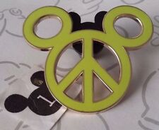 Peace Sign Mickey Mouse Head Icon Yellow Neon Green Icon Disney Pin Buy 2 Save $