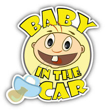 "Baby In The Car Sign Car Bumper Sticker Decal 5"" x 5"""