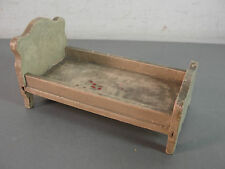 DOLL HOUSE MINIATURE MINI WOOD WOODEN TWIN BED FRAME FURNITURE HANDMADE VINTAGE