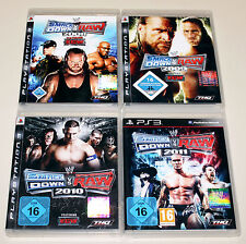 4 PS3 SPIELE BUNDLE - SMACKDOWN VS RAW 2008 2009 2010 2011 - WRESTLING ECW