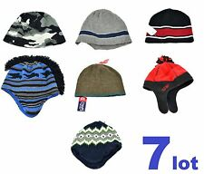 Winter Lot Of 7 Kids Beanie Boys Hat Mixed Brand New Chaps Tony Hawk Carter's