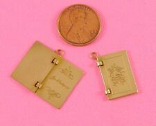 "LOVELY BRASS ""JE T'AIME"" BOOKLET CHARM - 1 PC(s)"