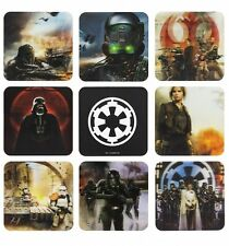 Official Star Wars Rogue One Set Of 8 3D Coasters