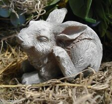 Latex  bunny rabbit mold plaster concrete casting garden mould