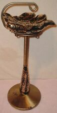 Vintage 50's Ashtray Stand Mid-Century Modern Art Deco Black/Gold