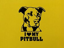 I LOVE MY PITBULL Dog Wall Art Home Sticker Animal Decal Pet Vinyl Decor