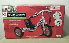 "New 12"" Silver Retro Tricycle Schwinn Roadster Kids Trike Vintage"