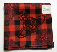 Vivienne Westwood Handkerchief scarf bandana Cotton Red Man Auth New Collectible