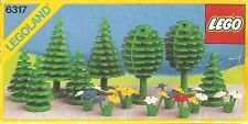 LEGO TREES & FLOWERS 6317 Set Classic Town City park fruit pine plants