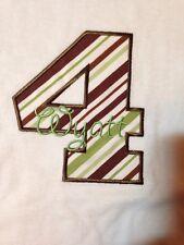 """Custom Boutique Boys  4 Years Monogram """"Wyatt"""" White Tee"""