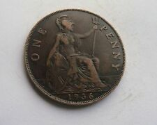 1936 Penny, George V. Good Condition.