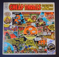 "BIG BROTHER AND THE HOLDING COMPANY Signed X3 ""CHEAP THRILLS"" LP ALBUM WITH COA"