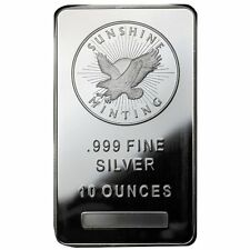 Sunshine Silver 10 oz Silver Bar .999 Fine - MintMark Security (New, Sealed)