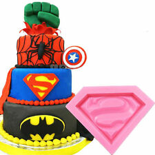 Superman Silicone Mould Fondant Chocolate Cake Decorating Clay Fimo