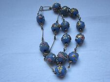Antique Vintage1920 1930 Art Deco Venetian Wedding Cake Murano Lampwork Necklace