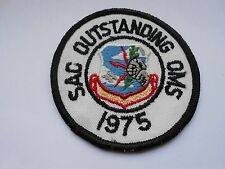 vintage  strategic air command  patch  1975 sac  outstanding oms
