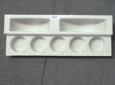 Caravana o autocaravana Cocina Marfil taza plástica y soporte de la placa CPH1