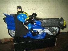 "1 FISHER PRICE DC SUPER HEROES COLLECTABLE BATMAN  & BATCYCLE "" SOLD AS IS """