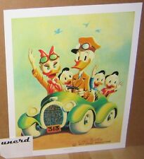 Carl Barks Kunstdruck: Rumble Seat Roadster - Donald Duck, Daisy, 313 Art Print
