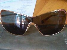 Carolina Hererra Gold aviator sun glasses EUC