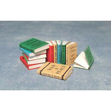 Dolls House Miniatures:  Set of 12 Books with titles  :  in 12th scale