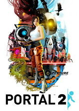 "024 Portal 2 - First Person Puzzle Platform Video Game 14""x20"" Poster"