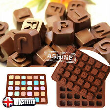 ALPHABET BRICKS NAMES LETTER WORD Chocolate Candy Silicone Bakeware Cake Mould