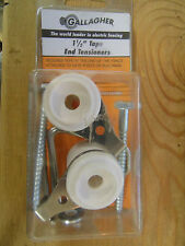 "Gallagher ELECTRIC FENCE 1 1/2"" TAPE END TENSIONERS -2 PACK Livestock Horses NEW"