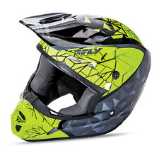 2017 Fly Racing KINETIC CRUX  MX Motocross Helmet Black Grey Hi Viz Size LARGE