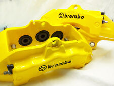 4x 105 Mm Brembo Negro Pinza de freno Calcomanías Stickers Alta Temp